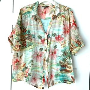 Tommy Bahama 🏝 🌴 XL Button down short sleeve top